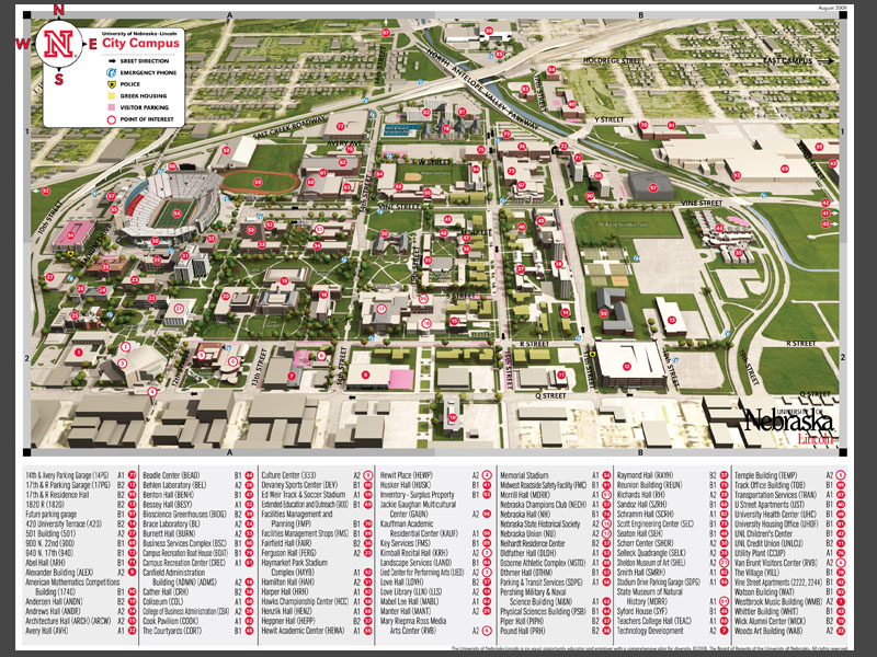 University Of Nebraska Lincoln Campus Maps The Online Portfolio Of