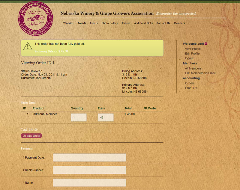 NWGGA membership registration system