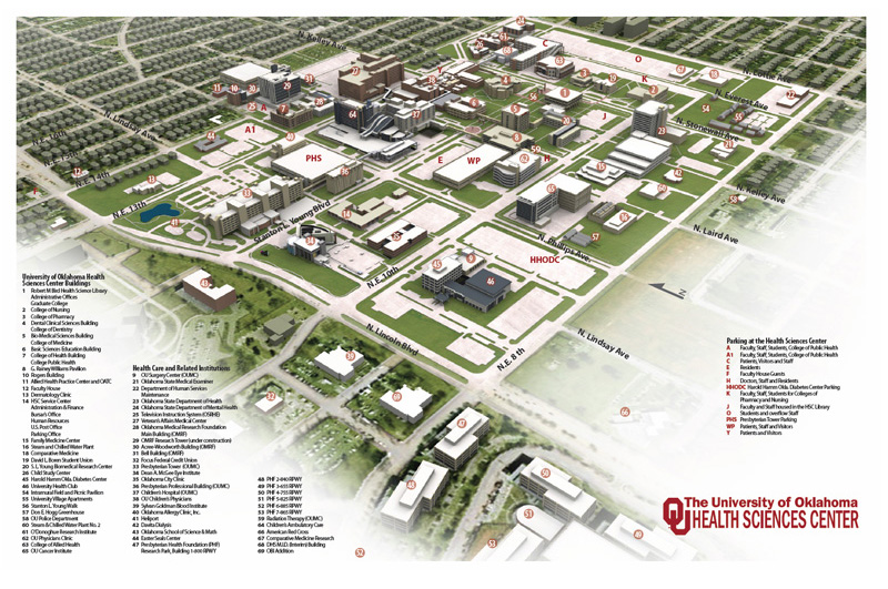 University of Oklahoma Health Sciences Center Campus Maps